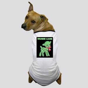 Zombie Lamb Loves Brains Dog T-Shirt