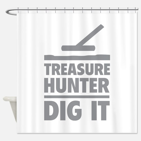 Treasure Hunter Dig It Shower Curtain