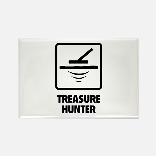 Treasure Hunter Rectangle Magnet