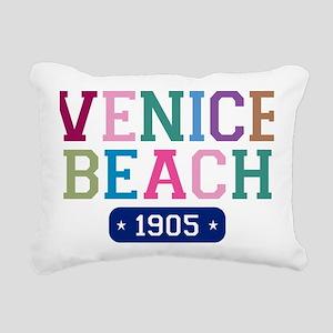 Venice Beach 1905 Rectangular Canvas Pillow