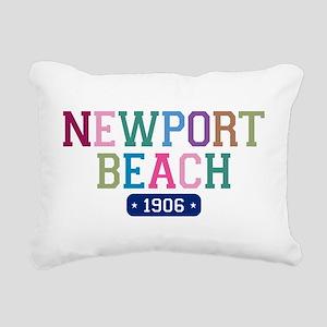 Newport Beach 1906 Rectangular Canvas Pillow