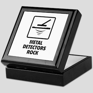 Metal Detectors Rock Keepsake Box