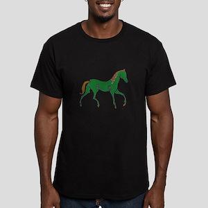 Celtic Horse Men's Fitted T-Shirt (dark)