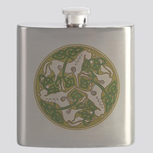 Celtic Horse Disc Flask