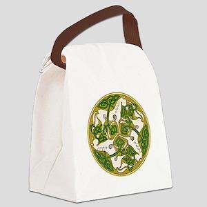 Celtic Horse Disc Canvas Lunch Bag