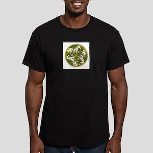 Celtic Horse Disc Men's Fitted T-Shirt (dark)