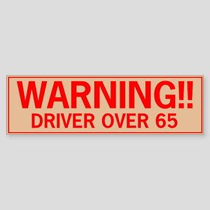 over65 Sticker (Bumper)