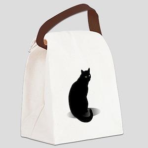 Basic Black Cat Canvas Lunch Bag