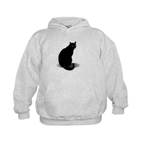 Basic Black Cat Kids Hoodie