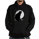 Basic Black Cat Hoodie (dark)