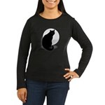 Basic Black Cat Women's Long Sleeve Dark T-Shirt