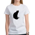 Basic Black Cat Women's T-Shirt