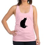 Basic Black Cat Racerback Tank Top