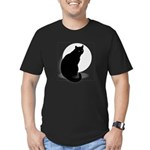 Basic Black Cat Men's Fitted T-Shirt (dark)