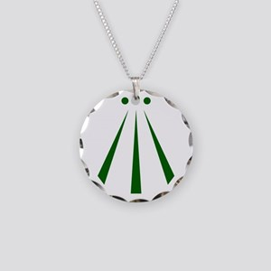 Awen Green Necklace Circle Charm