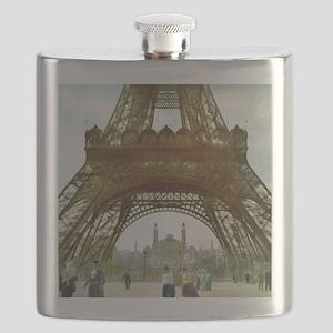 Retro Eiffel tower Flask