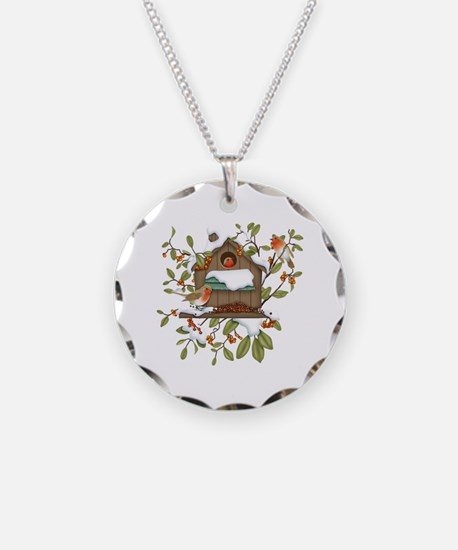 Winter Birds Necklace