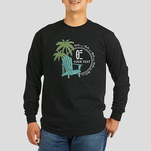Theta Xi Beach Long Sleeve Dark T-Shirt