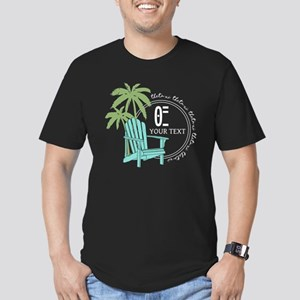 Theta Xi Beach Men's Fitted T-Shirt (dark)