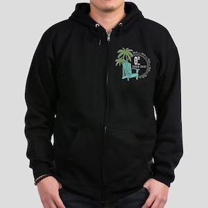 Theta Xi Beach Zip Hoodie (dark)