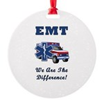 EMT We Are The Difference Round Ornament