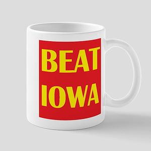Beat Iowa (Red/Yellow) Mug