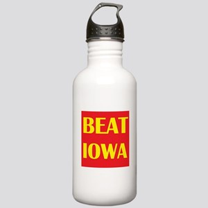 Beat Iowa (Red/Yellow) Stainless Water Bottle 1.0L