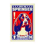 Obey the Springer Spaniel! Mini Poster Print