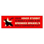 SPRINGER Spaniel World Domination Sticker
