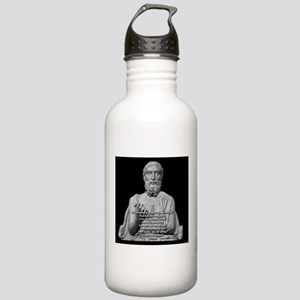 Epicurus God Quote Stainless Water Bottle 1.0L