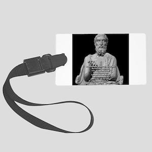 Epicurus God Quote Large Luggage Tag