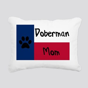 Doberman Mom Rectangular Canvas Pillow
