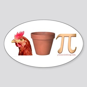 Chicken Pot Pi Oval Sticker