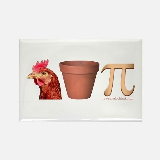 Chicken Pot Pi Rectangle Magnet
