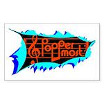 Poppermost Breakthru Sticker 3x5
