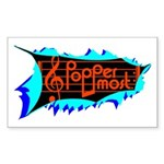 Poppermost Breakthru Sticker 3x5 (10 pk)