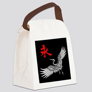 Eternal Crane (silver) Canvas Lunch Bag