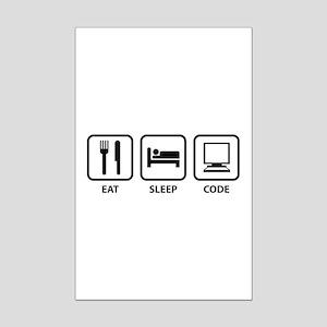 Eat Sleep Code Mini Poster Print