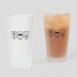 Eat Sleep Code Drinking Glass