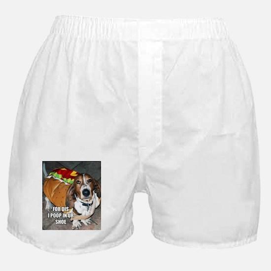 Grumpy Basset Boxer Shorts