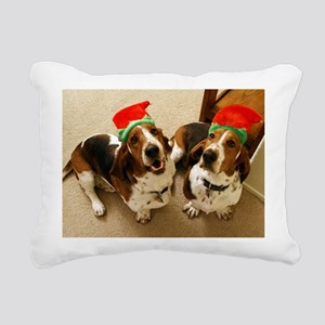 howliday_bassets Rectangular Canvas Pillow