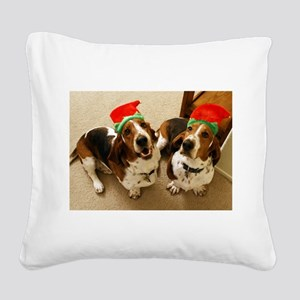 howliday_bassets Square Canvas Pillow