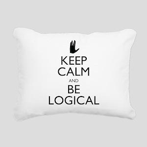 Keep Calm and Be Logical Rectangular Canvas Pillow