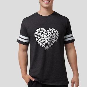 Irish Water Spaniel Heart T-sh Mens Football Shirt