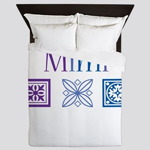 Mimi Quilt Blocks Queen Duvet