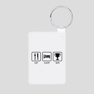 Eat Sleep Win Aluminum Photo Keychain