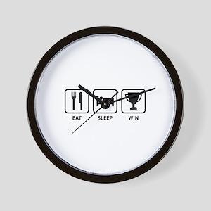 Eat Sleep Win Wall Clock