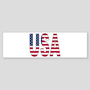 USA flag Sticker (Bumper)
