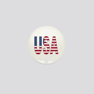 USA flag Mini Button