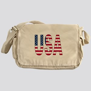 USA flag Messenger Bag